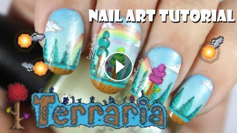 Terraria Nail Art Tutorial Hallowed Nails